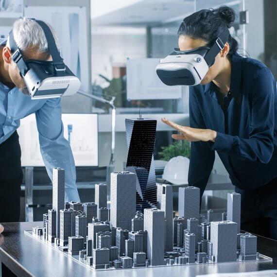 VR-Stadtplanung